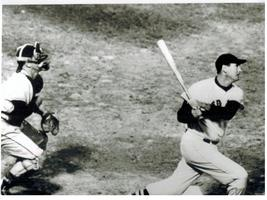 Ted Williams Home Run Boston Red Sox Vintage 5X7 BW Baseball Memorabilia Photo - $3.95