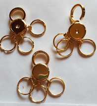(Lot of 3) Keychains Quick Turn Key Rings Gold Metal with Multi Keychain... - $4.95