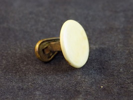 CUFF BUTTON ANTIQUE 1890's CUFF LINK LEVER SLEEVE BUTTON Teardrop Leverback - $7.91