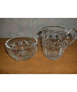 2 Pc Waterford Crystal of Ireland Cut Lead Crystal Lismore Creamer & Ope... - $74.25