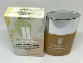 CLINIQUE Even Better Glow Light Reflecting Makeup SPF15 Foundation WN 22... - $24.25