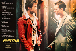 FIGHT CLUB MOVIE POSTER SIGNED BY CAST - $160.00