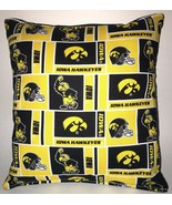 IOWA Pillow Iowa Hawkeyes University Pillow NCAA HANDMADE IN USA - $9.99