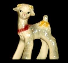 Ceramic Lamb Figurine AA19-1559 Vintage image 1