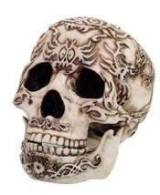 Primitive Tattoo Skull Head Skeleton Collectible Statue Figurine - $21.38