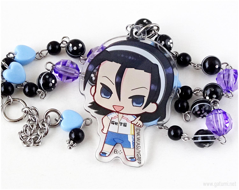 Jinpachi Toudou Acrylic Necklace, Anime Jewelry, Kawaii Jewelry - $27.00