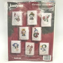 Janlynn Christmas Cross Stitch Snow Angels Set 8 Ornaments Kit 126-05 Ne... - $19.95