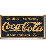 Coca-Cola 1910 Logo Weathered Metal Sign - $11.26