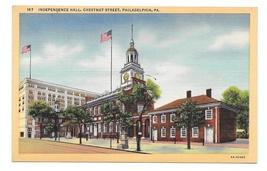 Philadelphia PA Independence Hall Vintage Curteich Linen Postcard - $4.99