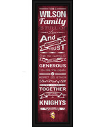 "Personalized Calvin College Knights 24 x 8 ""Family Cheer"" Framed Print - $39.95"