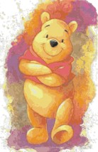 Counted Cross Stitch winnie the pooh watercolor pdf 165x255 stitches BN1921 - $3.99