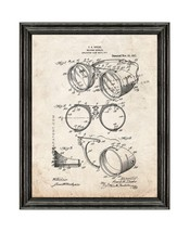 Welding Goggles Patent Print Old Look with Black Wood Frame - $24.95+