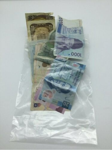 Assorted Mixed Foreign World Paper Note Currency Lot Banknote 8 grams
