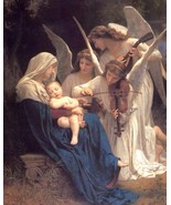 Song of the Angels to baby William-Adolphe Bouguereau   8 x 10 vintage r... - $7.50