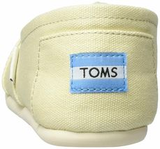 NEW TOMS Women's Classic Solid Natural Lt Beige Canvas Slip On Flats Shoes Box image 5
