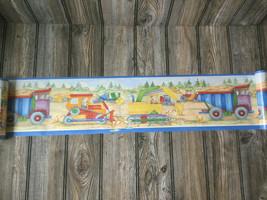 International Kids Construction Trucks Wallpaper Border 5 yards NEW -discontinue - $12.09