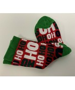 Yaktrax Youth Cozy Holiday Christmas Cabin Crew Socks, One Size Fits Mos... - $6.92