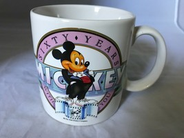 Applause Disney 60 Years of Mickey Mouse Coffee Mug Cup Walt Disney 1988 - $23.36