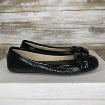 Michael Kors Womens Lillie Black Leather Slip On Moccasins Flats Size 7 M - $38.58