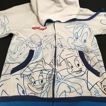 Rice Krispies Jacket Kellogg's Size Small White Blue Hoodie Snap Crackle... - $29.99