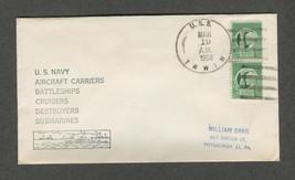 Mar 19 1956 USS Irwin Fletcher Class Destroyer Stamp #908 - $9.99