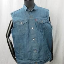 Levis Camionero Denim sin Mangas Jean Jacket XL Color Azul Índigo 4 Bolsillos image 1