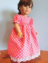 """homemade 18"""" american girl/madame alexander white polka d nightgown doll clothes - $21.78"""
