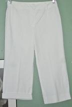 CHADWICK'S White NO SEE THRU Capri Pants NWOT Sz 10 - $15.00