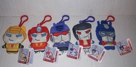 Transformers Lot of 5 Plush Clip Bots Christmas Ornaments NEW NWT Optimu... - $17.81
