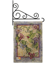 Hummingbird with Trumpet Flowers Burlap - Impressions Decorative Metal Fansy Wal - $33.97