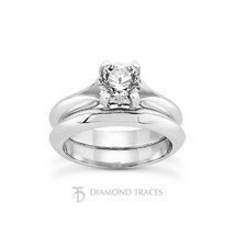 2.03ct E-SI1 Ideal Round Genuine Diamond 18k Gold Split Band Cathedral S... - $8,353.97