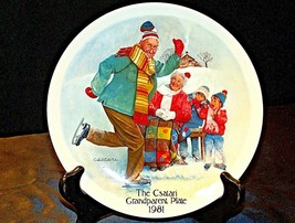 """1981 """"The Skating Lesson"""" by Joseph Csatari with Box ( Knowles ) AA20-CP... - $69.95"""