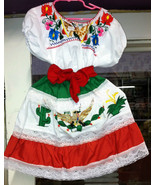 "Girls & Toddlers ""Viva Mexico"" Top & Skirt Set Mexico's Folklorico 5 De ... - $45.00+"