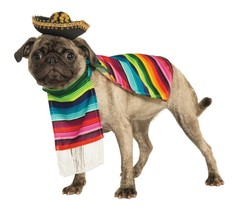Rubies Mexican Serape Sombrero Poncho Dogs Cats Pets Halloween Costume 8... - £13.07 GBP+