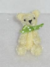 Tiny Fuzzy Yellow Handmade Artist Teddy Bear Plush for Pukifee BJD Dolls - $20.00
