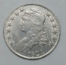 1824 Capped Bust Half Dollar 50¢ Coin Lot# MZ 4138