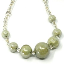 Necklace Antica Murrina Venezia, CO973A02, Spheres Gray Beige, 45 CM image 2