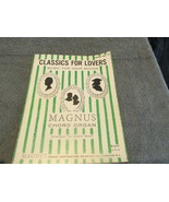 Classics For Lovers For The Magnus Chord Organ Sheet Music - $6.99