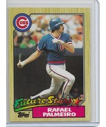 1987 Topps Baseball Rafael Palmeiro Rookie / RC # 634 Chicago Cubs - $1.00