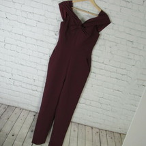 Adelyn Rae XS Jumpsuit Womens Burgundy Off The Shoulder - $43.95