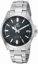 Casio Men's Edifice Quartz Watch with Stainless-Steel Strap, Silver, Bla... - £74.65 GBP