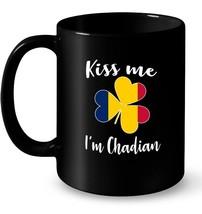 Kiss me Im Chadian Ceramic Mug Shamrock - $13.99+