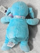 GANZ HE9835 Polyester Fiber 11 Inch Blue Tie Dye Lambie With A Satin Bow image 4
