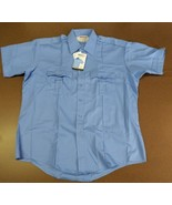 ELBECO CHECKPOINTE MENS/WOMEN UNIFORM SHORT-SLEEVE SHIRT BLUE SZ 17-17.5... - $18.99