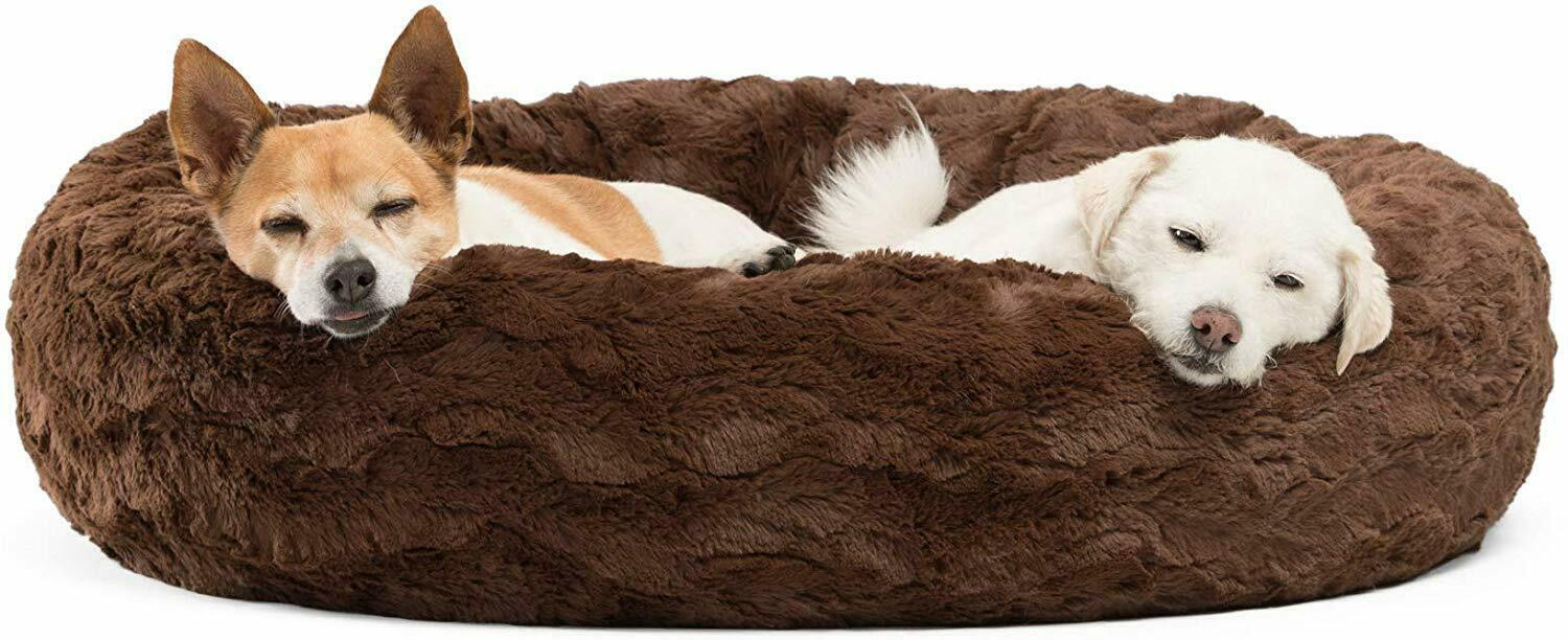 Primary image for Nice Luxury Comfy Chocolate Orthopedic Self-Warming Donut Pet Bed Medium Dogs