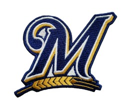 """Milwaukee Brewers World Series MLB Baseball Fully Embroidered Iron On Patch """"M"""" - $6.87+"""