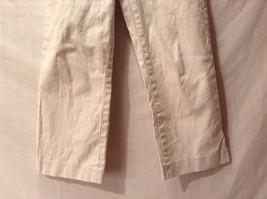 Great Condition Banana Republic Martin Cotton Blend Size 8 Cream Pants Stretch image 2