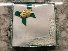 "Vintage Irish Linen Handkerchief Made in Ireland Original Box 4""x4"" - $37.53"