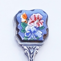 Collector Souvenir Spoon Mother's Day 1985 Sweet Pea Porcelain Emblem  - $4.99