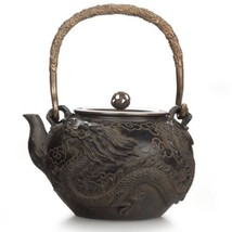 New Japanese Nanbu Tekki Iron Tea Kettle Tetsubin teapot Phoenix & drago... - $783.08